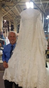 After Restoration on Modern Lace Wedding Gown