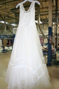 After Restoration on Vintage Wedding Gown