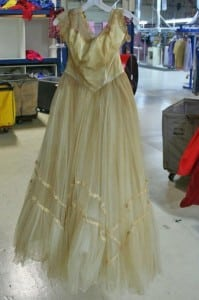 Before Restoration on Vintage Wedding Gown